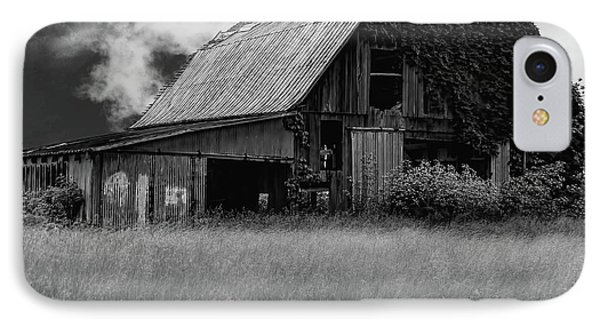 Black White Barn IPhone Case