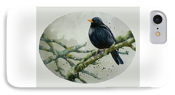 Blackbird Painting IPhone Case by Alison Fennell