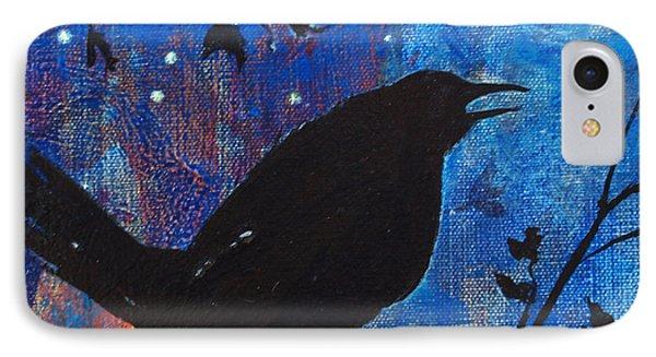Blackbird Singing IPhone Case by Robin Maria Pedrero