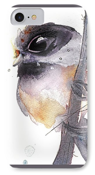 IPhone Case featuring the painting Blackcapped Chickadee by Dawn Derman