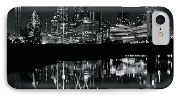 Blackest Night In Big D IPhone Case by Frozen in Time Fine Art Photography