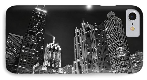 Blackest Night In Chicago IPhone Case by Frozen in Time Fine Art Photography