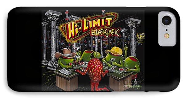 Blackjack Pimps IPhone Case by Michael Godard