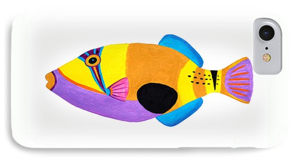 Blackpatch Triggerfish  IPhone Case by Opas Chotiphantawanon