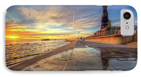 IPhone Case featuring the photograph Blackpool Sunset by Yhun Suarez