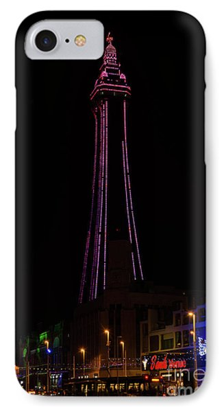 Blackpool Tower Pink Phone Case by Steev Stamford