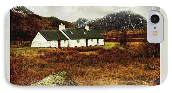 IPhone Case featuring the photograph Blackrock Cottage Glencoe by Jacqi Elmslie