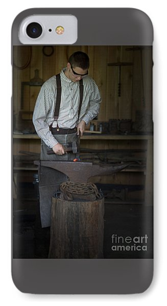 Blacksmith At Work IPhone Case by Liane Wright