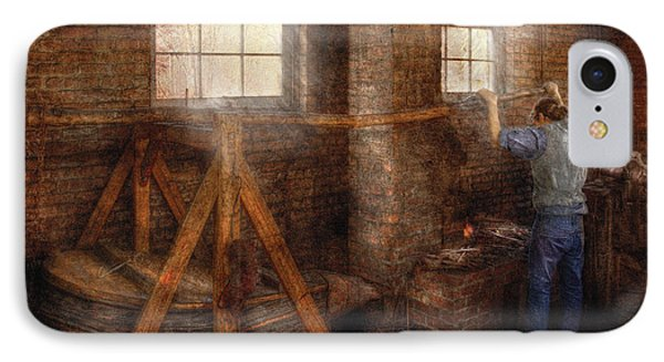 Blacksmith - It's Getting Hot In Here Phone Case by Mike Savad