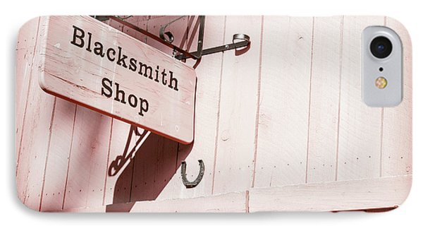 IPhone Case featuring the photograph Blacksmith Shop by Alexey Stiop