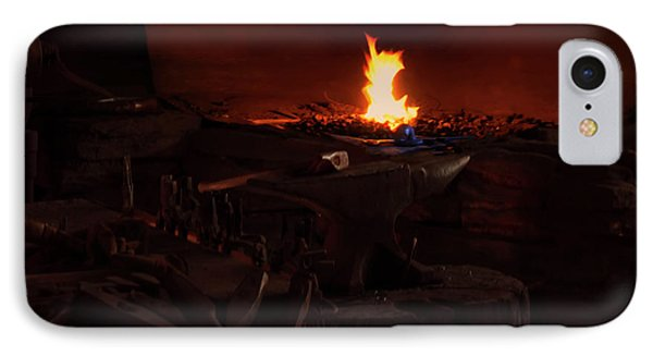IPhone Case featuring the digital art Blacksmith Shop by Chris Flees