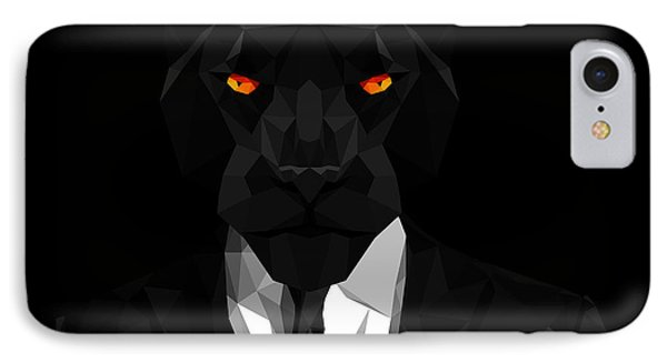 Blacl Panther IPhone Case by Gallini Design