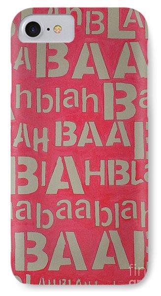 Blah Blah Baa IPhone Case by Ricky Sencion