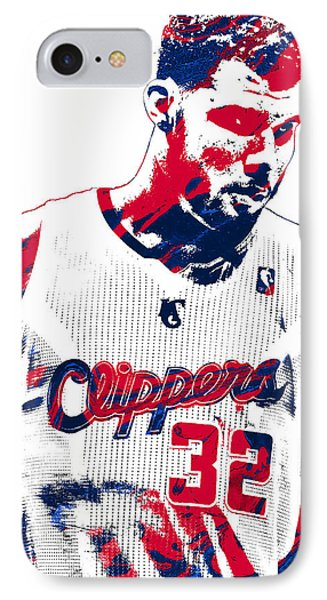 Blake Griffin Los Angeles Clippers Pixel Art 2 IPhone Case by Joe Hamilton