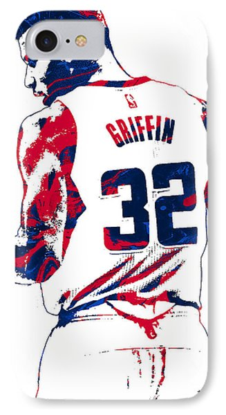 Blake Griffin Los Angeles Clippers Pixel Art 4 IPhone Case