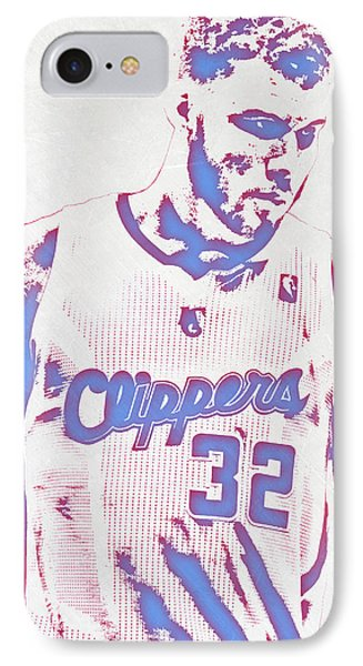 Blake Griffin Los Angeles Clippers Pixel Art IPhone Case by Joe Hamilton