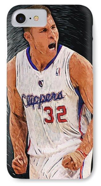 Blake Griffin IPhone Case by Taylan Apukovska