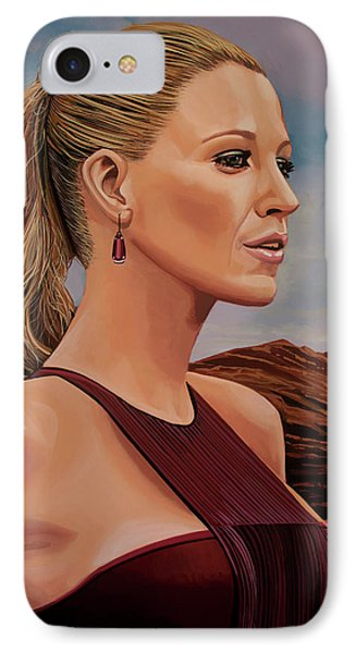 Blake Lively Painting IPhone Case by Paul Meijering