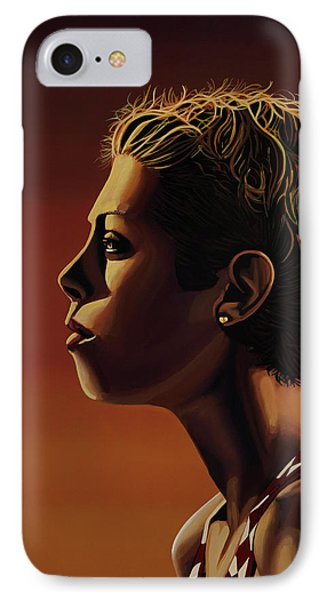 Blanka Vlasic Painting IPhone 7 Case by Paul Meijering
