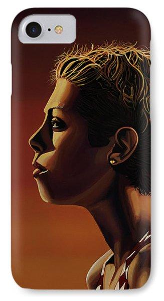 Blanka Vlasic Painting IPhone 7 Case by Paul Meijering