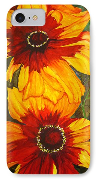 IPhone Case featuring the painting Blanket Flower by Lil Taylor