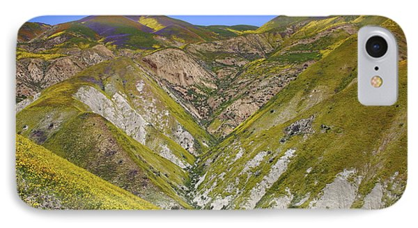 Blanket Of Wildflowers Cover The Temblor Range At Carrizo Plain National Monument IPhone Case