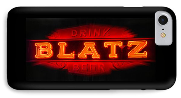 Blatz Beer  IPhone Case by Susan  McMenamin