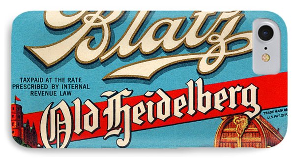 Blatz Old Heidelberg Vintage Beer Label Restored IPhone Case