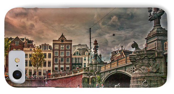 IPhone Case featuring the photograph Blauwbrug -blue Bridge- by Hanny Heim