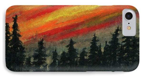 Blaze Over The Forest IPhone Case by R Kyllo