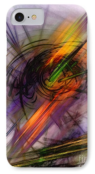 Blazing Abstract Art IPhone Case by Karin Kuhlmann