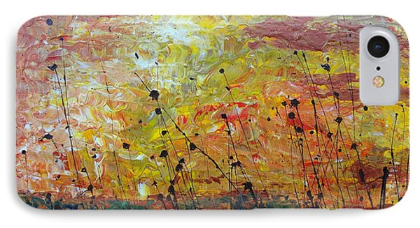 IPhone Case featuring the painting Blazing Prairie by Jacqueline Athmann