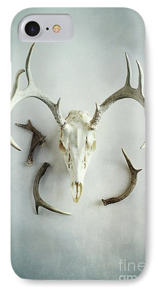 IPhone Case featuring the photograph Bleached Stag Skull by Stephanie Frey