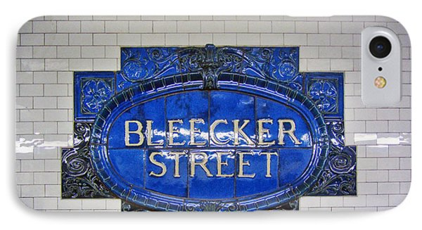 Bleecker Street Subway Sign IPhone Case by Nishanth Gopinathan