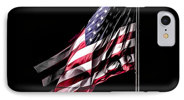 IPhone Case featuring the photograph Bleeding Flag by Terry Cosgrave