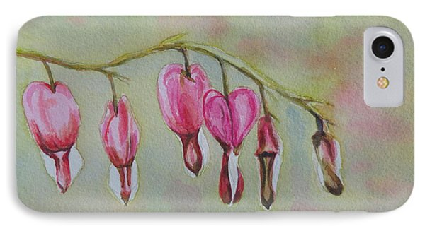 IPhone Case featuring the painting Bleeding Hearts by Betty-Anne McDonald