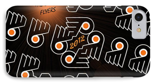Bleeding Orange And Black - Flyers IPhone Case by Trish Tritz