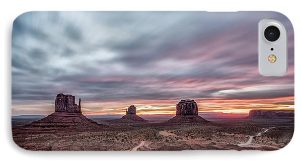 Blended Colors Over The Valley IPhone Case by Jon Glaser