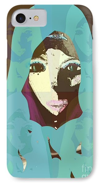 IPhone Case featuring the mixed media Blessed 2 by Ann Calvo