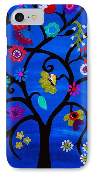 IPhone Case featuring the painting Blessed Tree Of Life by Pristine Cartera Turkus