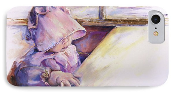 Blessing Psalm One Hundred And Seven Verse Nine Oil Painting IPhone Case by Kim Guthrie