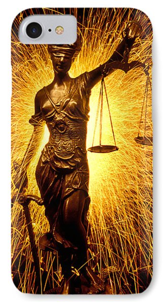 Blind Justice  IPhone Case by Garry Gay