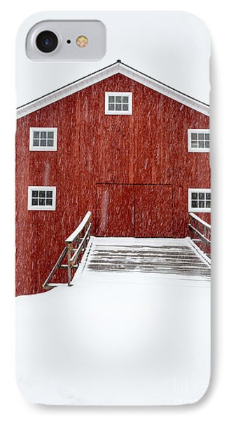 Blizzard At The Old Cow Barn IPhone Case