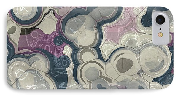 IPhone Case featuring the digital art Blobs - 01c01 by Variance Collections
