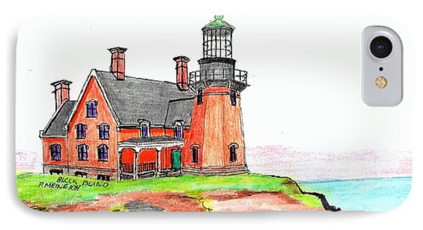 Block Island South Lighthouse IPhone Case by Paul Meinerth