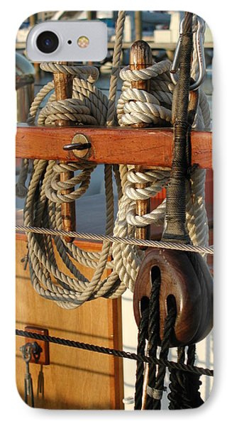 Block  Line  And Tackle IPhone Case by Nancy Taylor