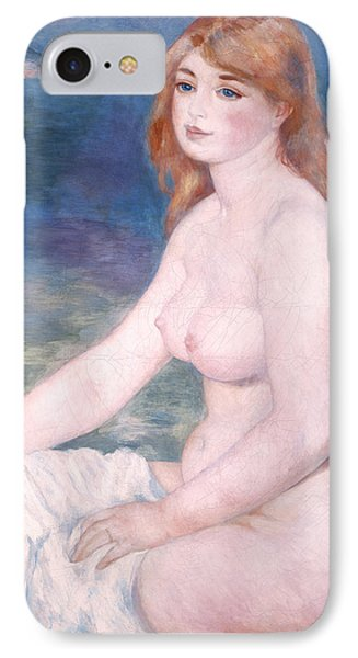 Blonde Bather II Phone Case by Renoir