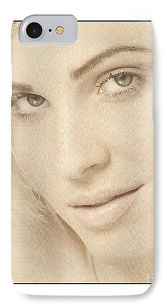 IPhone Case featuring the photograph Blonde Girl's Face by Michael Edwards