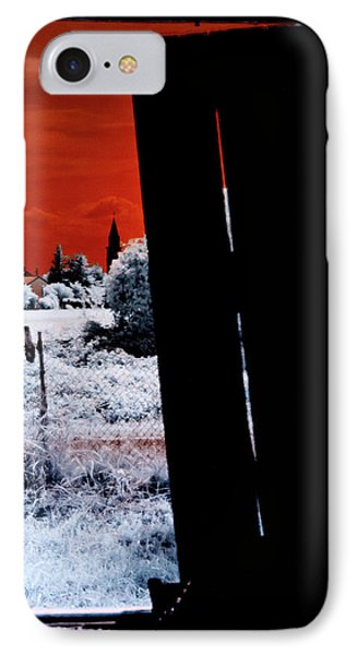Blood And Moon IPhone Case by Helga Novelli
