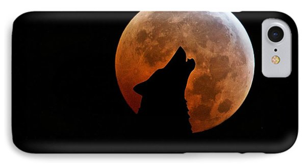 Blood Full Moon And The Wolf IPhone Case